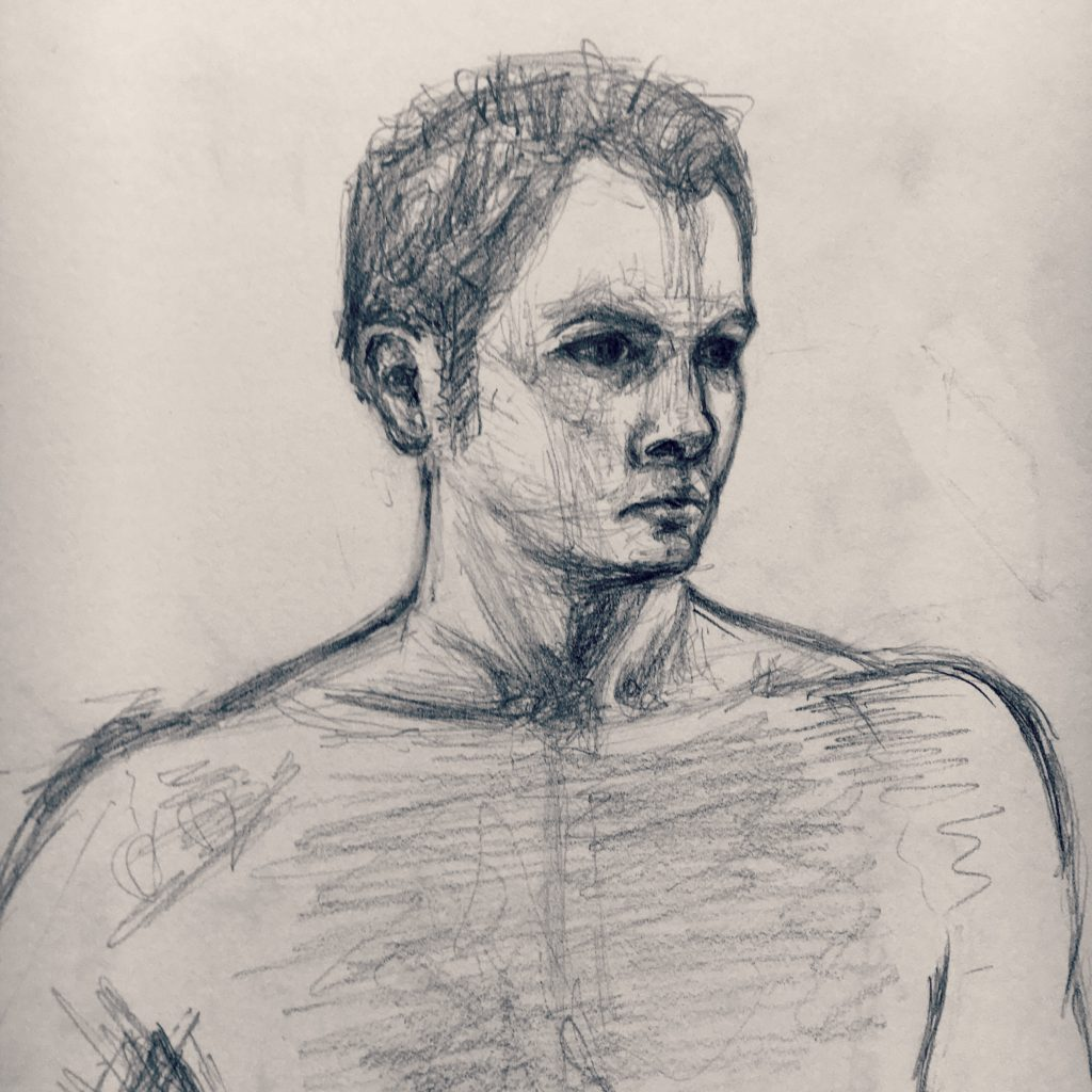 Pencil portrait of a Man